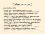 calendar cont