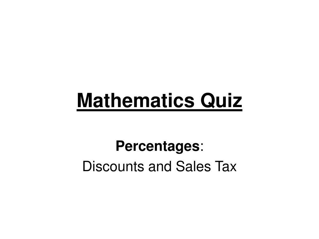 mathematics quiz l.