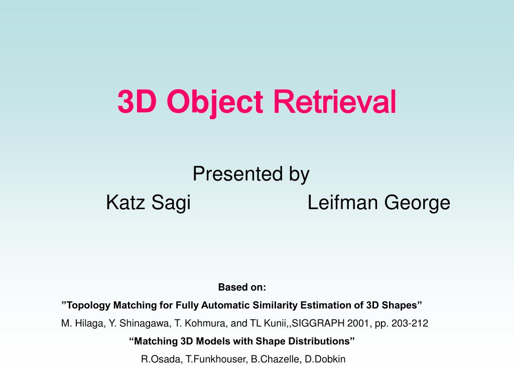3d object retrieval l.