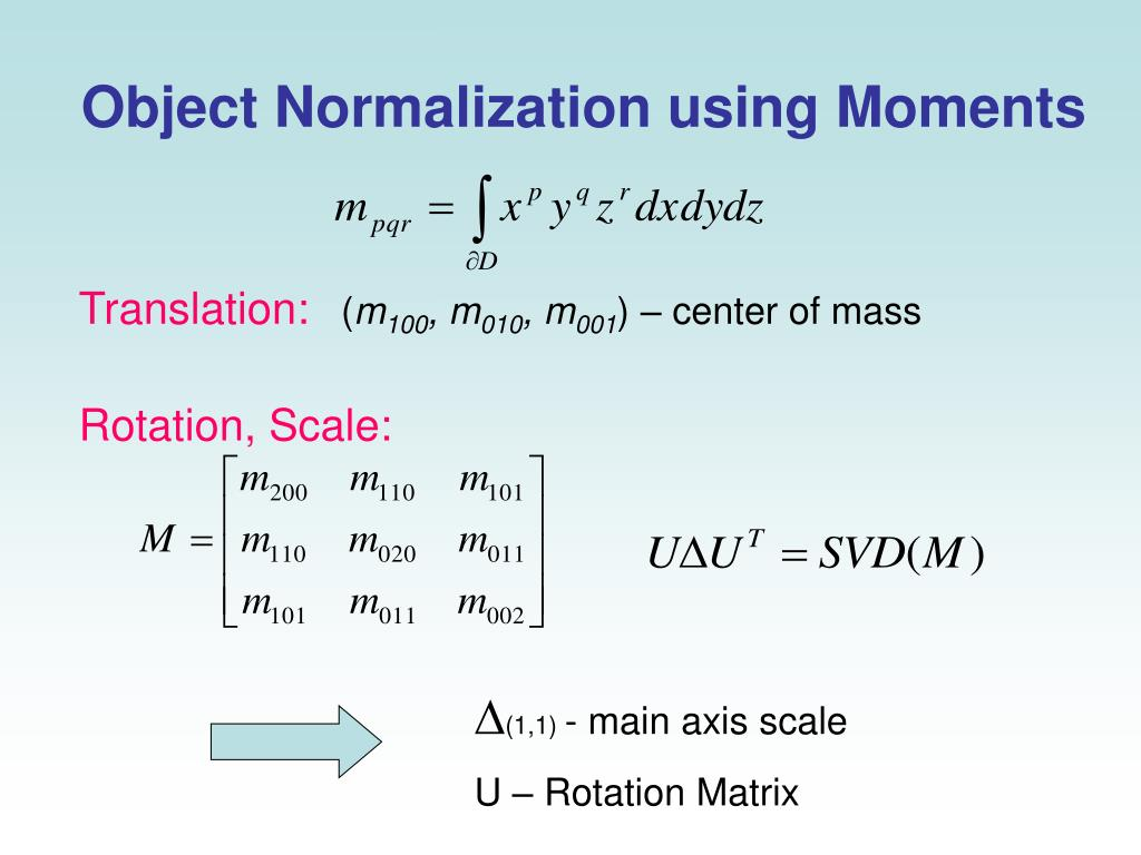 Object Normalization using Moments