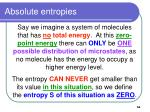 absolute entropies