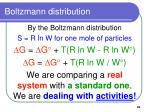boltzmann distribution