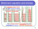 boltzmann equation and entropy