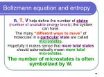 boltzmann equation and entropy35