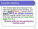 coupled reactions122