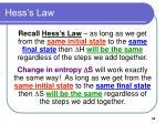 hess s law
