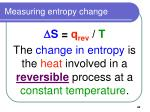 measuring entropy change42