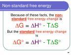 non standard free energy