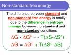 non standard free energy91