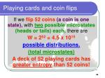playing cards and coin flips