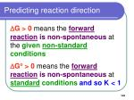 predicting reaction direction101