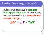 standard free energy change d g