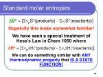 standard molar entropies58