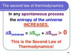 the second law of thermodynamics66