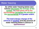 water freezing