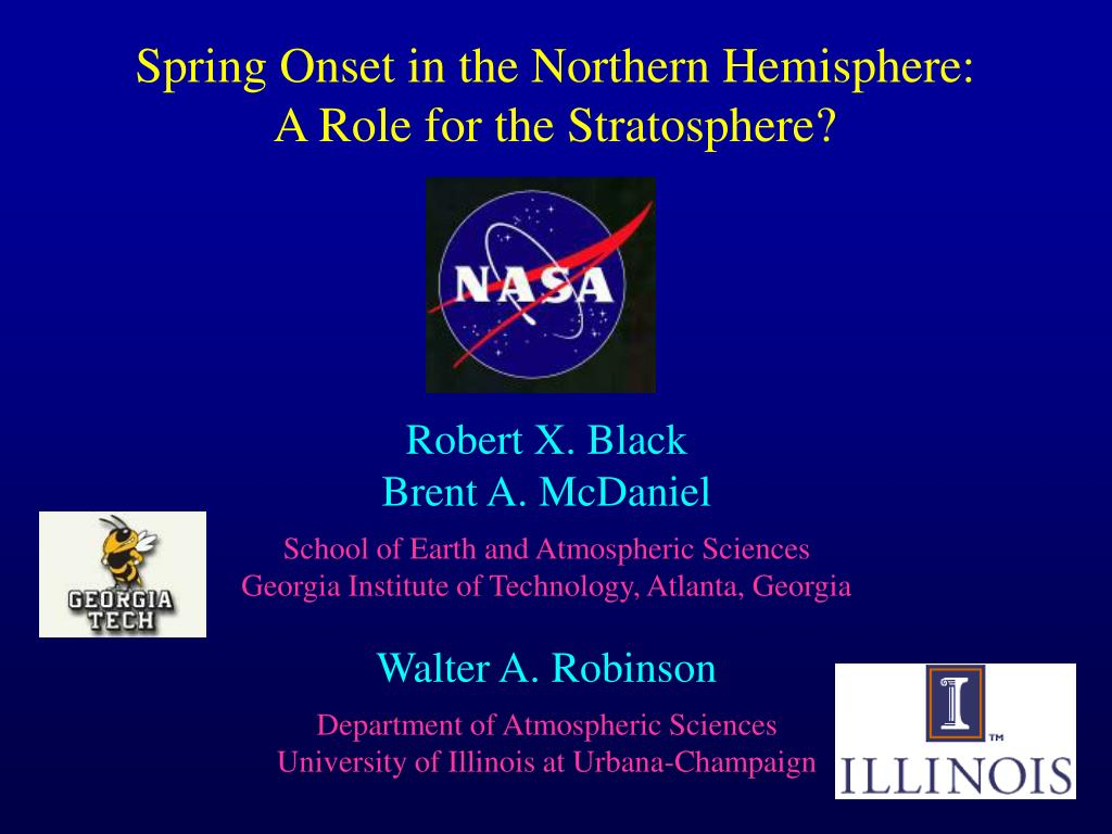 spring onset in the northern hemisphere a role for the stratosphere l.
