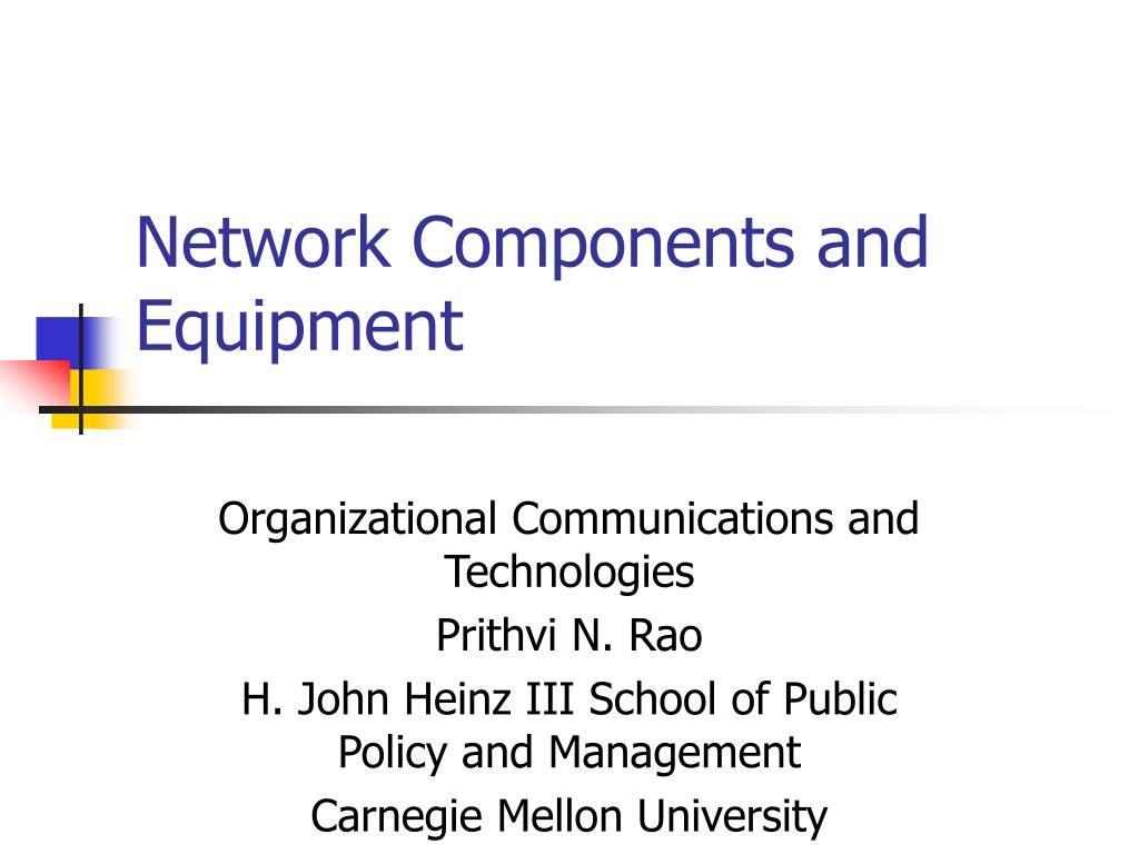 network components and equipment l.