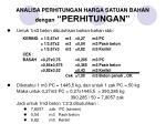 analisa perhitungan harga satuan bahan dengan perhitungan11
