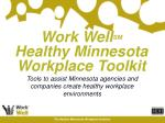 work well sm healthy minnesota workplace toolkit