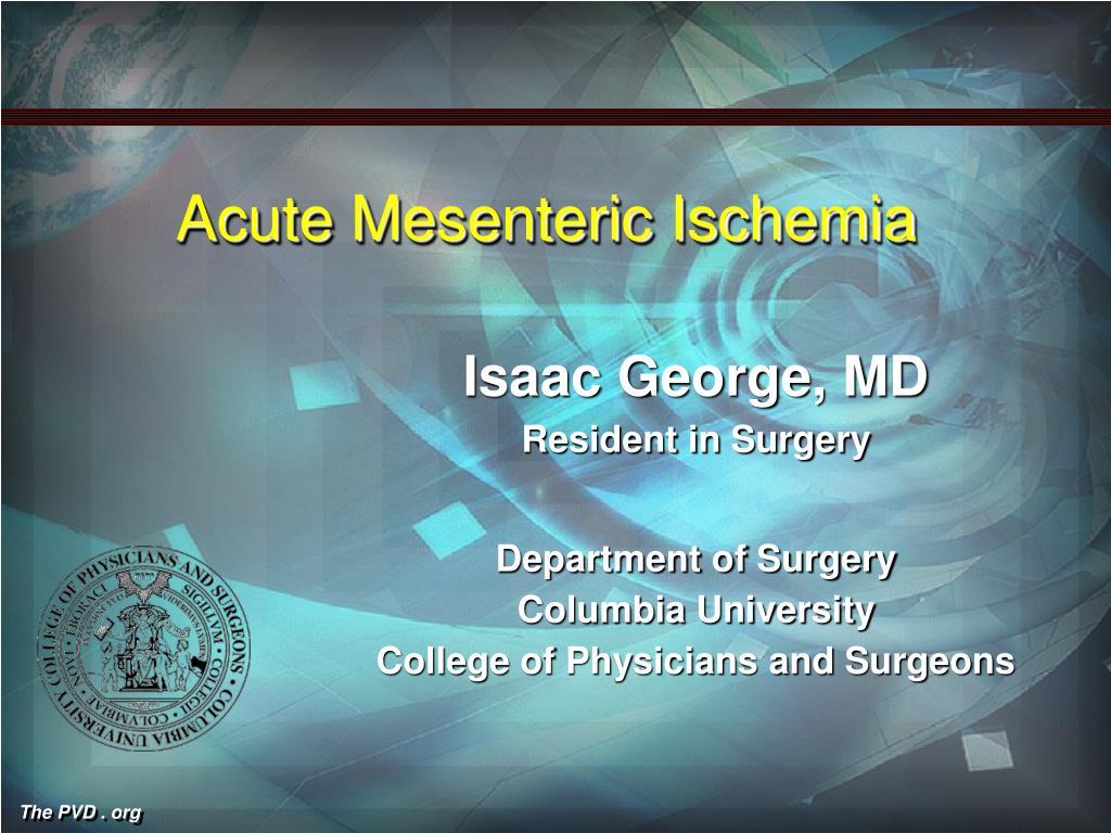 acute mesenteric ischemia l.