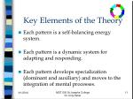 key elements of the theory