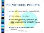 the mbti does indicate