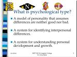 what is psychological type