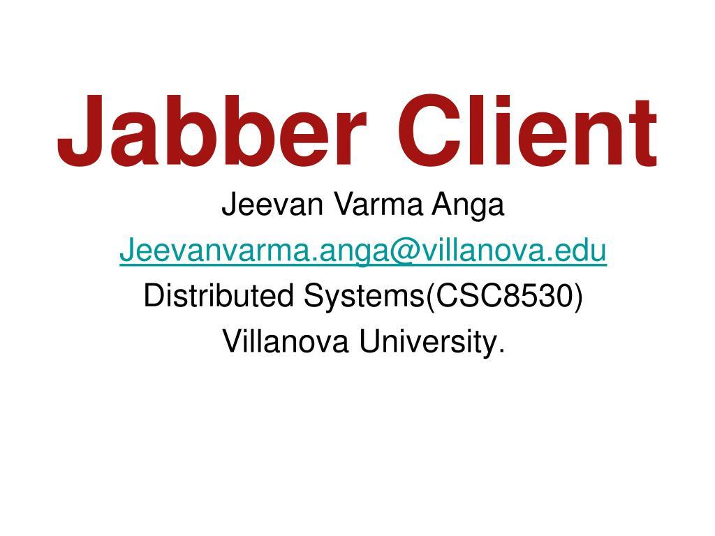 jabber client l.