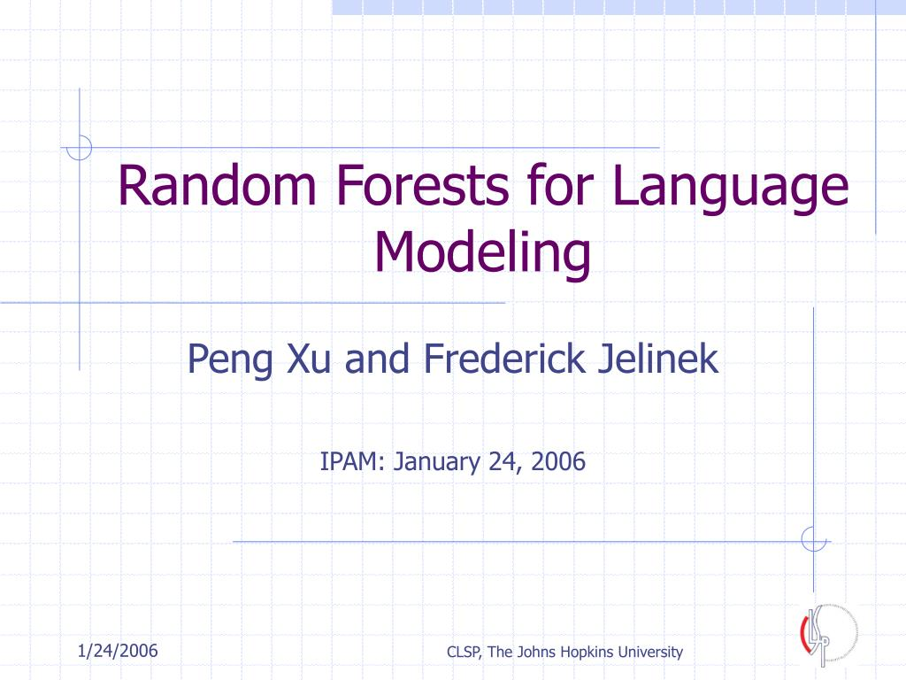 random forests for language modeling l.