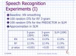 speech recognition experiments i29