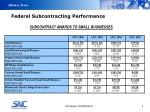 federal subcontracting performance