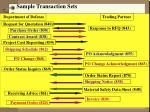 sample transaction sets