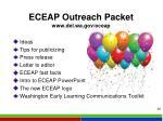 eceap outreach packet www del wa gov eceap