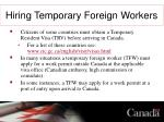 hiring temporary foreign workers