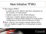 new initiative tfwu