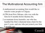 the multinational accounting firm