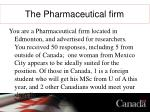 the pharmaceutical firm