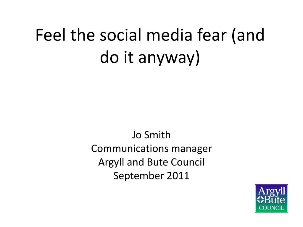 feel the social media fear and do it anyway l.