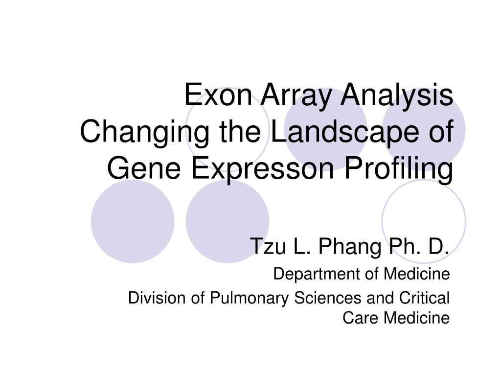 exon array analysis changing the landscape of gene expresson profiling l.