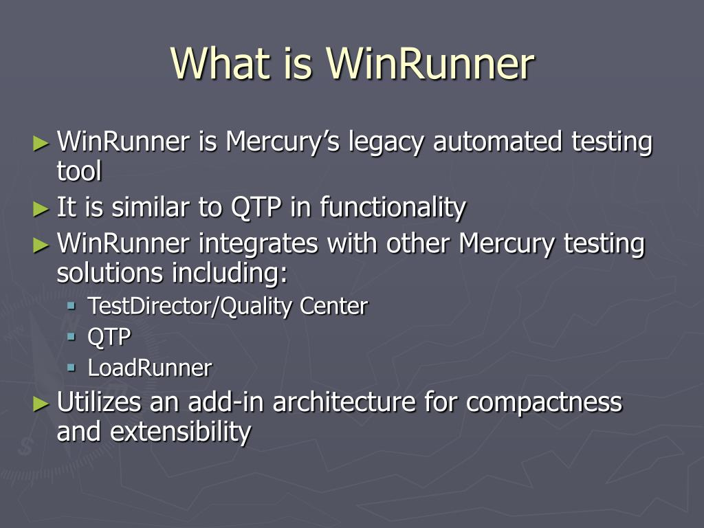 what is winrunner l.