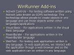 winrunner add ins