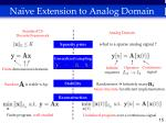 na ve extension to analog domain