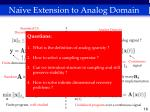 na ve extension to analog domain16
