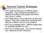 general coping strategies