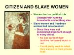 citizen and slave women