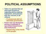 political assumptions