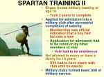 spartan training ii