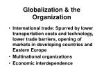 globalization the organization