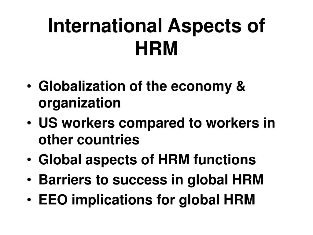 international aspects of hrm l.