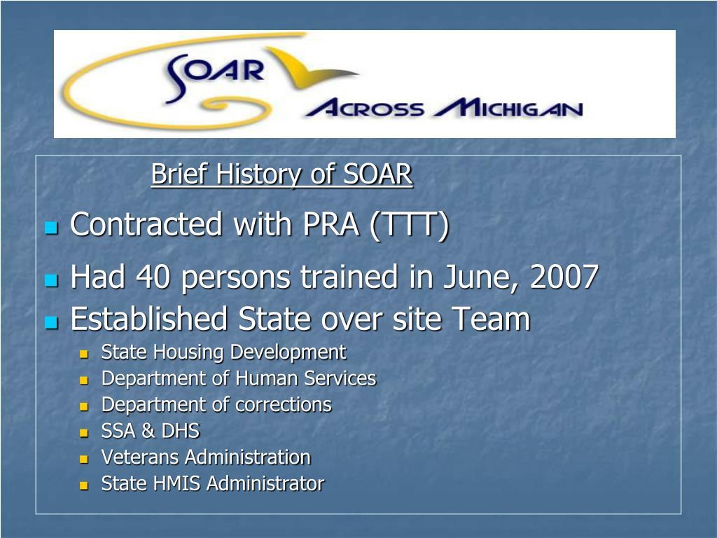 Brief History of SOAR